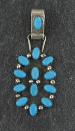 wonderful Sterling Silver with Turquoise Zuni Pendent..