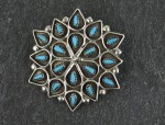 Zuni Sterling Silver and turquoise Pendent..