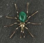Sterling Silver with Variscite body Spider Pin..