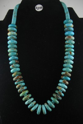 One of A kind Turquoise Beaded Necklace.. 