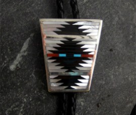 Ebony, Coral, Turquoise, and Mother of Pearl. 