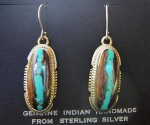 Navajo Sterling Silver Pendant Earrings.