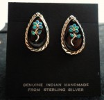 Zuni Pendant Flower Earrings.