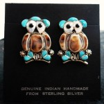 Navajo Sterling Silver Owls.