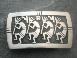Kokopelli' Hopi Belt Buckle - Sterling Silver.