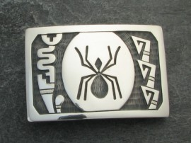 'Spider' Hopi Belt Buckle - Sterling Silver 