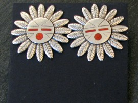 "1- 1/4"" wide. Red coral inlay."