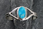 Wonderful Sterling Silver and Turquoise Bracelet..
