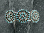 Amazing Sterling Silver Bracelet with turquoise.. 